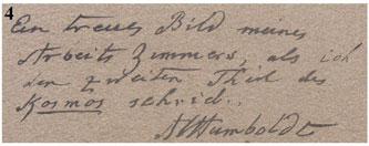 Humboldt autograph