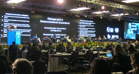 Dialogue in plenary hall