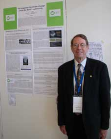 Dr. Arthur Dahl and poster presentation